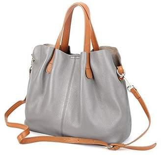 Molodo Womens Satchel Hobo Top Handle Tote Genuine Leather Handbag Shoulder Purse