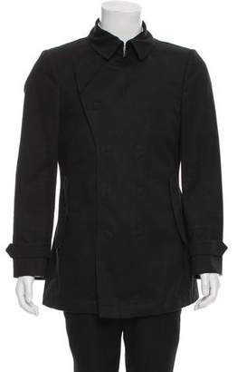 Burberry Double-Breasted Linen-Blend Jacket