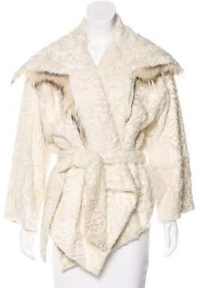 Jean Paul Gaultier Persian Lamb Open-Front Jacket