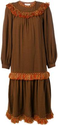 Saint Laurent Pre-Owned 1980's fringed boho dress