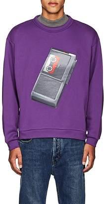 Acne Studios Men's Flames Tape-Recorder Cotton Sweatshirt