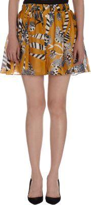 Thakoon Zebra Button Front Skirt