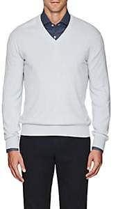 Barneys New York Men's Cashmere V-Neck Sweater - Lt. Blue