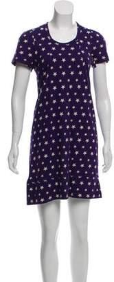 Sonia Rykiel Sonia by Star Print Short Sleeve Dress