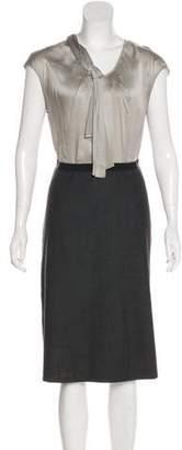 Mantu Wool-Silk Blend Midi Dress