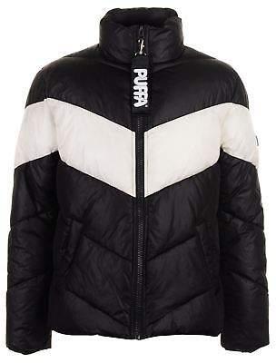Puffa Mens Chevron Jacket Padded Coat Top High Neck Zip Full Warm