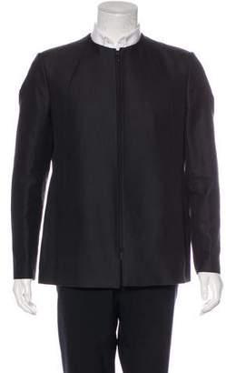 Emporio Armani Herringbone Collarless Jacket