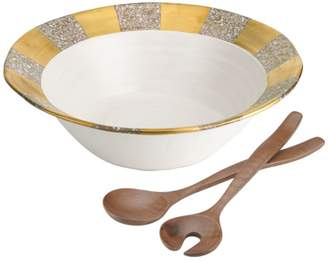 Michael Wainwright Tempio Luna Gold Salad Bowl & Servers