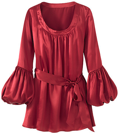 Signature Silk Collection: Balloon-Sleeve Tunic