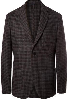 Altea Dark-Grey Slim-Fit Houndstooth Wool-Blend Blazer