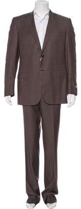 Canali Exclusive Wool Striped Suit w/ Tags