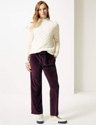 Marks and Spencer Velour Wide Leg Joggers