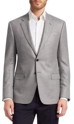 Giorgio Armani Textured Notch Lapel Sportcoat