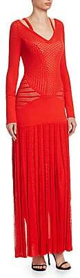 Roberto Cavalli Women's Knit Cutout Long Dress