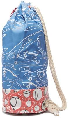 Charles Jeffrey Loverboy Screaming Suns Contrast Panel Duffle Bag - Womens - Blue Multi