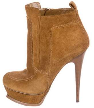 Saint Laurent Suede Platform Booties