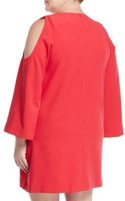 Rachel Roy Plus Cold-Shoulder Party Shift Dress, Plus Size
