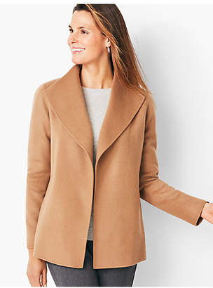 Talbots Double-Face Wing Collar Jacket - Solid