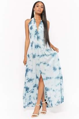 Forever 21 Boho Me Tie-Dye Halter Maxi Dress