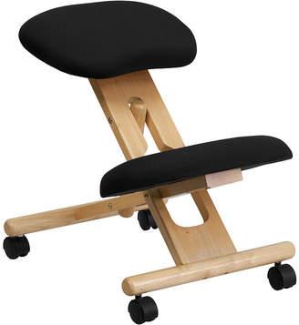 Asstd National Brand Mobile Wooden Ergonomic Kneeling Chair