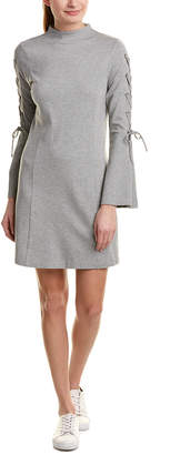Kensie Lace-Up Sleeve Shift Dress