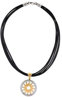 Bvlgari Two-Tone Tondo Sun Pendant Necklace