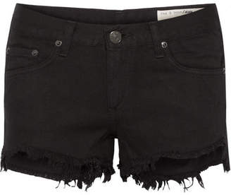 Rag & Bone Frayed Cut-off Denim Shorts - Black