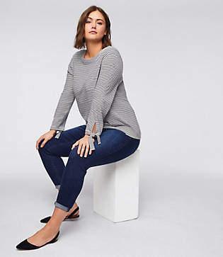 LOFT Plus Skinny Crop Jeans in Rich Dark Indigo Wash