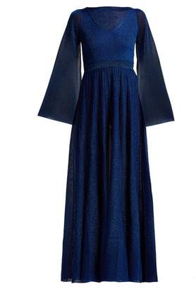 Missoni Bell Sleeve Pleated Gown - Womens - Blue