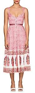 Saloni Women's Fara Folkloric-Print Cotton A-Line Dress-Pink
