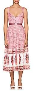 Saloni Women's Fara Folkloric-Print Cotton A-Line Dress - Pink
