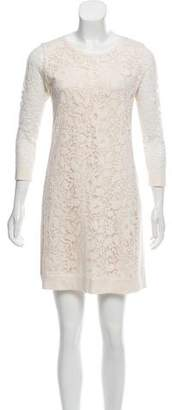 Magaschoni Long Sleeve Mini Dress