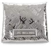 Love Moschino Metallic Logo Embossed Card Holder