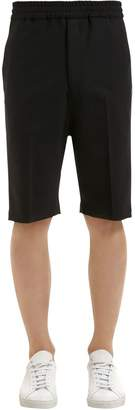 Neil Barrett Extra Fine Wool Gabardine Tuxedo Shorts