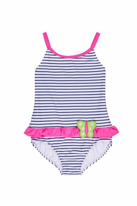 Florence Eiseman Stripe Butterfly Swimsuit $85 thestylecure.com
