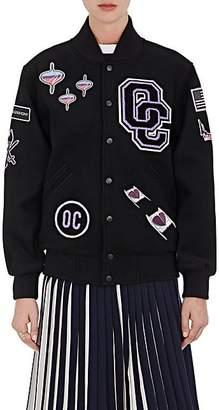 Opening Ceremony Women's Patch Appliquéd Melton Varsity Jacket - Blk Multi