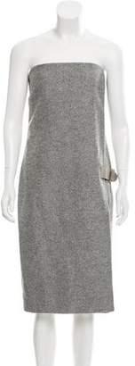 Max Mara Strapless Wool & Angora Dress