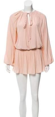 Ramy Brook Long Sleeve V-Neck Dress