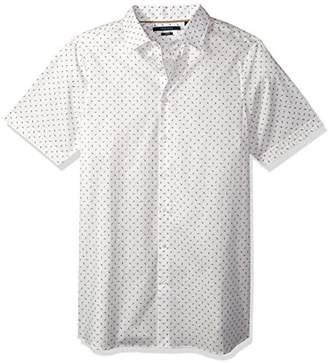 Perry Ellis Men's Big and Tall Short Sleeve Mini Geo Print Shirt