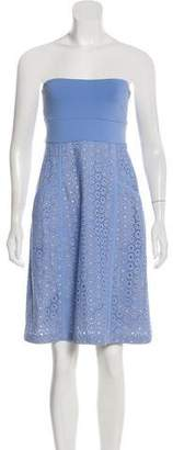 Susana Monaco Strapless Embroidered Dress