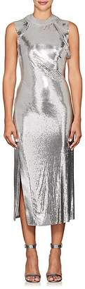 Paco Rabanne Women's Metal-Mesh & Lamé Midi-Dress