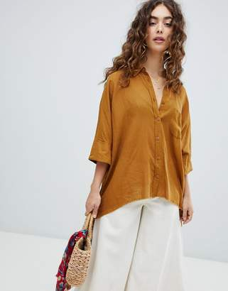 Free People relaxed luxe shirt