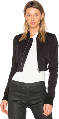 DRKSHDW by Rick Owens Glitter Flight Bomber Jacket $1,365 thestylecure.com