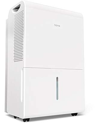 hOmeLabs 6 Gallon (50 Pint) Dehumidifier Energy Star Safe Mid Size Portable Dehumidifiers for Basements Large Rooms up to 2500 Sq Ft with Fan Wheels and Drain Hose Outlet to Remove Odor and Allergens