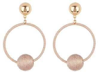 Ettika Thread Wrapped Hoop Earrings
