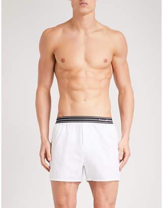 Ermenegildo Zegna Solid relaxed-fit cotton-poplin boxer shorts