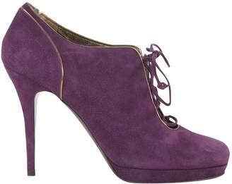 Saint Laurent Purple Suede Heels