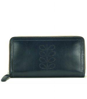 Orla Kiely Structured Stem Leather Big Zip Wallet