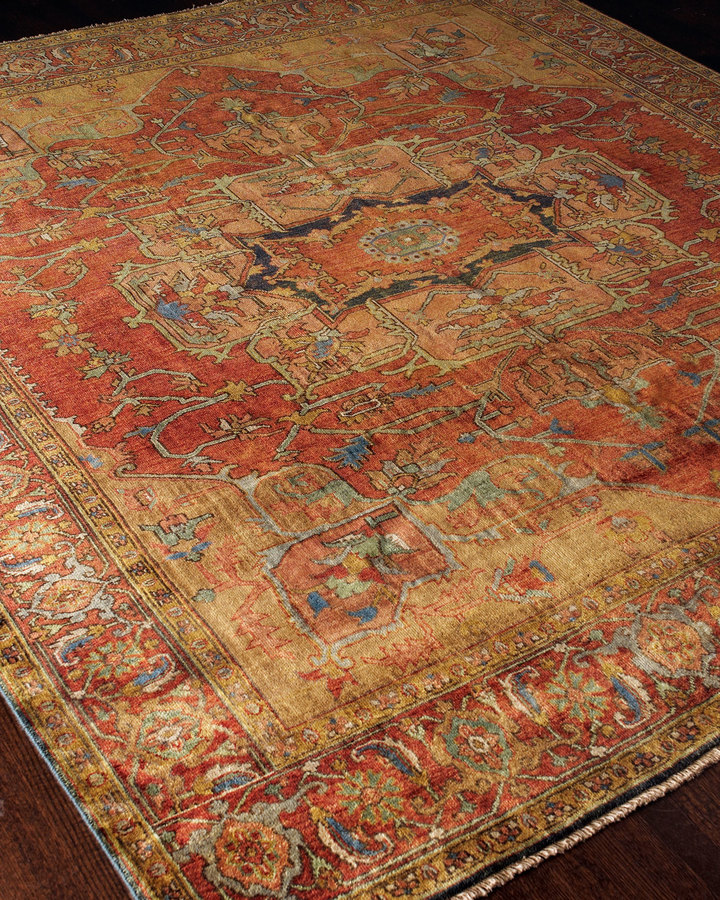 Horchow Exquisite Rugs Tribute Medallion Rug