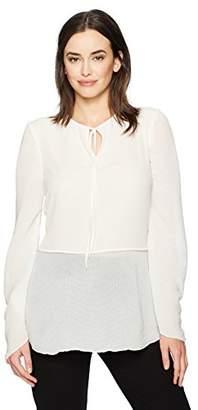 Ellen Tracy Women's Textured Full Sleeve Blouse